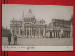 Roma / Citta Del Vaticano (RM) - Piazza E Basilica Di S. Pietro 1904 - Vaticano