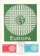 FRANCE CARTE FDC DU 2 MAI 1970 PARIS EUROPA - Cartes-Maximum