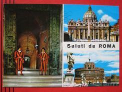 "Roma / Citta Del Vaticano (RM) - Mehrbildkarte ""Saluti Da Roma"" - Vatikanstadt"
