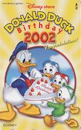 Télécarte NEUVE Japon / MF-1001000 - DISNEY STORE - DONALD DUCK BIRTHDAY 2002 - Japan MINT Phonecard - Disney