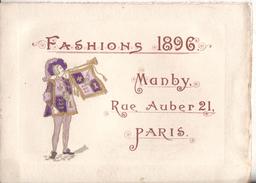 Publicite Fashions 1896  21 Manby Rue Auber Paris - Publicités