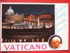 "Roma / Citta Del Vaticano (RM) - Zweibildkarte ""Saluti Dal Vaticano"" / Papst Johannes Paul II - Vatikanstadt"