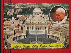 """Roma / Citta Del Vaticano (RM) - Zweibildkarte """"Anno Santo Della Redenzione 1983"""" / Papst Johannes Paulus II / Autograph - Vatikanstadt"""
