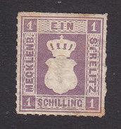 Mecklemburg-Sterlitz, Scott #3, Mint Hinged, Coat Of Arms, Issued 1864 - Mecklenburg-Strelitz