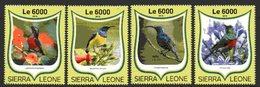 SIERRA LEONE 2016 Nectariniidés 4 Val. Neufs MNH
