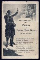 """CPA PRECURSEUR DOUBLE- FRANCE-  MILITARIA- LA PRIERE AU """"JEUNE BON DIEU""""- DE BOTREL- 1915- 2 ILLUSTRATIONS- 3 SCANS - Heimat"""