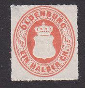 Oldenburg, Scott #17, Mint No Gum, Coat Of Arms, Issued 1862 - Oldenburg