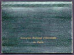 RARE CARNET DE CHEQUES BANQUE CNEP- DATÉ 1955- PRESQUE ENTIER- 3 CHEQUES UTILISÉS- COUVERTURE SKAÏ VERT- 3 SCANS - Chèques & Chèques De Voyage