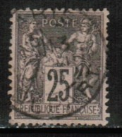 FRANCE  Scott # 100 VF USED - 1876-1898 Sage (Type II)