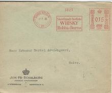 Postmark Robbie Burns-Whisky Advertising. Denmark 1936.  H-163 - Wines & Alcohols
