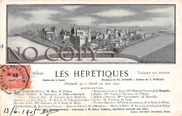 34 - Béziers - Les Hérétiques - Opéra En 3 Actes - Musique De Levadé 1905 - Théâtre Des Arènes - Beziers