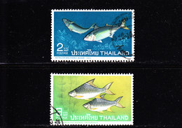THAILAND - 1967  O/FINE CANCELLED - FISHES - Yv 454, 455   Mi 481, 482 - Tailandia
