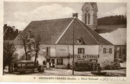 (doubs)  CPA Orchamps Vennes  Hotel National    (bon Etat) - France