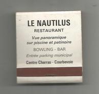 G-I-E , Tabac , Boites , Pochette D'ALLUMETTES , Publicité , 2 Scans , Le NAUTILUS ,restaurant , Courbevoie - Matchboxes