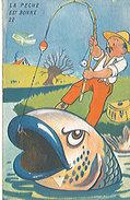La Pêche Est Bonne  ' Carte Système ' Dépliant De 10 Vues Sur Saint Raphael ; Pécheur, Poisson, La Pêche' Très Très Rare - Saint-Raphaël