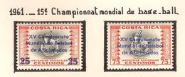 Costa Rica 1961, 15 ème Championnat Mondial De Base-ball ( Thématique Sport ) - Costa Rica
