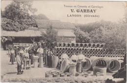 33.Langon.Travaux En Ciments Et Carrelages.V.Garbay; - Langon