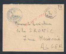 MILITARIA LETTRE EN FRANCHISE MILITAIRE CACHET COMMUNE MIXTE SAS D HASSI BAHBAH  ALGER 1958 : - Marcophilie (Lettres)