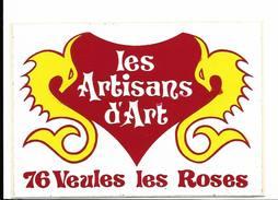 Les Artisans D'Art Veules Les Roses  / Sticker écusson Adhésif Autocollant - Autocollants