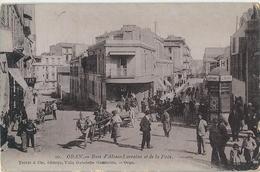ORAN   -   ALGÉRIE   -   Rues  D' Alsace - Lorraine  Et  De  La  Paix  Dans  Les  Années  1920  ( Superbes Animations ) - Oran