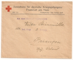 Hopital Colaud BRIANCON Basses Alpes, Frankfurt Am Main. Deutschland. - Marcophilie (Lettres)