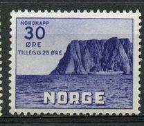 Norway 1943  30+25o North Cape Issue  #B30  MH - Steuermarken