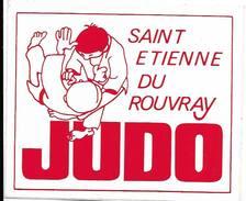 Judo Saint Etienne Du Rouvray   / Sticker écusson Adhésif Autocollant - Autocollants
