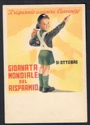 Giornata Mondiale Del Risparmio 10 10 1938 Non Viaggiata COD.F.003 - Guerra 1939-45