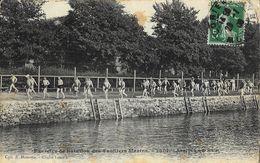 Exercice De Natation Des Fusiliés Marins: Arrivée Au Bain - Collection E. Hamonic - Natation