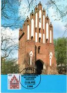 "BRD Maximumkarte Freimarken Sehenswürdigkeiten ""Neues Tor, Neubrandenburg"" Mi 1623 ESSt 13.6.1992 BONN 1 - [7] République Fédérale"