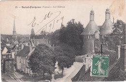 Carte Postale Ancienne De L'Yonne - Saint Fargeau - Le Château - Saint Fargeau
