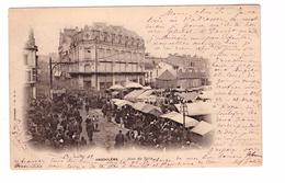 16 Angouleme Cpa Animée Jour De Foire Cachet Angouleme 1902 - Angouleme