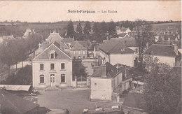 Carte Postale Ancienne De L'Yonne - Saint Fargeau - Les Ecoles - Saint Fargeau