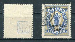 Deutsches Reich Michel-Nr. 130 Plattenfehler I Gestempelt - Geprüft
