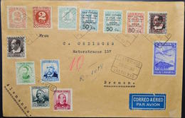España 1936. Canarias. Carta De Las Palmas A Bremen. Censura. - Marcas De Censura Nacional