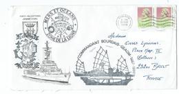 15638 - AE CDT BOURDAIS - GEAOM 1987-1988 -- HONG KONG  TIMBRES LOCAUX - Naval Post