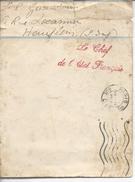 """De Paris Griffe """"le Chef De L'état Français"""" Carte Réponse Du Maréchal Pétain à Un Enfant - Postmark Collection (Covers)"""