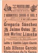 CORRIDA DE TAUREAU EN 1963 A PUERTOLLANO GRANDE FERIA DE MAI TORERO TOREADOR ARENE - Sports