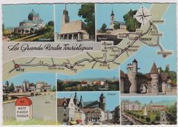 Moselle :   Carte  Géographique :SAINT  AVOLD, Metz , Forbach - Saint-Avold