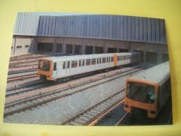 TRAIN 9417 - BRUXELLES/BRUSSEL (METRO) DEPOT D'AUDERGHEM VUE D'ENSEMBLE/OZERZICHT VAN DE METROREMISE LE OUDERGEM/.... - Metro