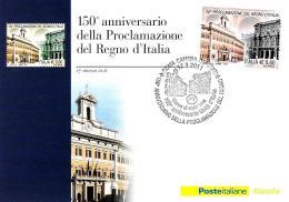 [MD0923] CPM - 150° ANNIVERSARIO DELL'UNITA' D'ITALIA - CON ANNULLO 17.3.2011 - NV - Storia