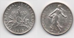 + FRANCE   + 2 FRANCS 1918 +  TRES BELLE+ - Frankreich