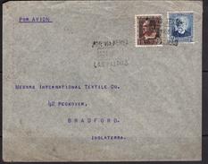 España 1937. Canarias. Carta De Las Palmas A Bradford. Censura. - Marcas De Censura Nacional
