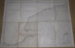 CARTE MARINE DE OUISTREHAM A DIEPPE COURS DE LA SEINE DU HAVRE A ROUEN JUILLET 1952 - Nautical Charts