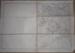 CARTE MARINE MOUILLAGE DE TREBEURDEN MAI 1951 - Nautical Charts
