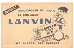 Buvard. Comme CROKENLER... Croquez Le CHOCOLAT LANVIN LANVIN CHOCOLAT A CROQUER N°7 - Cocoa & Chocolat
