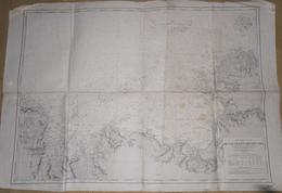 CARTE MARINE DE L ILE DE BATZ AU SEPT ILES  AOUT 1949 - Nautical Charts