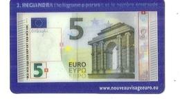 Carte BILLET DE 5 EURO Impression En Relief , Trasparence , Incliner ( L'hologramme Portrait Et Le Nombre D'émeraude ) - Specimen