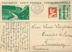 """PK 128  """"Lavey-les-Bains""""  Zürich - Strasbourg         1932 - Interi Postali"""