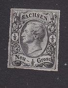 Saxony, Scott #9, Mint Hinged, King John !, Issued 1855 - Saxony